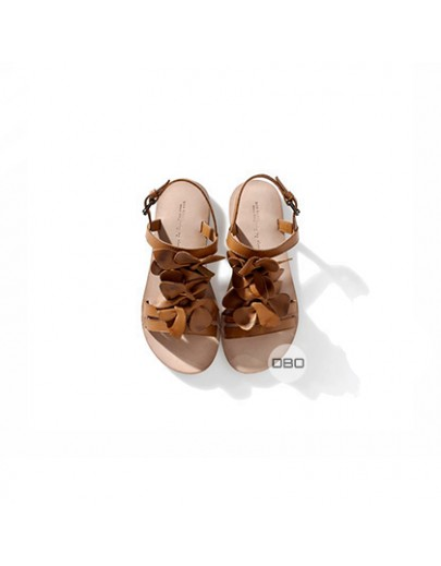 ExZara Girls' Real Leather Sandals