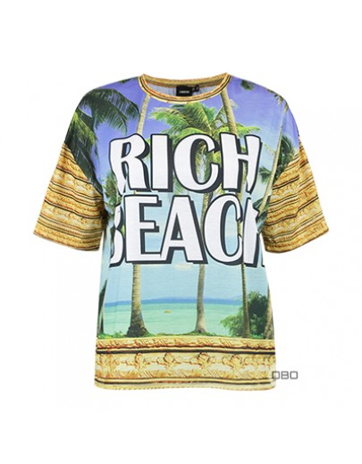 ExAsos T-Shirt with Rich Beach Print