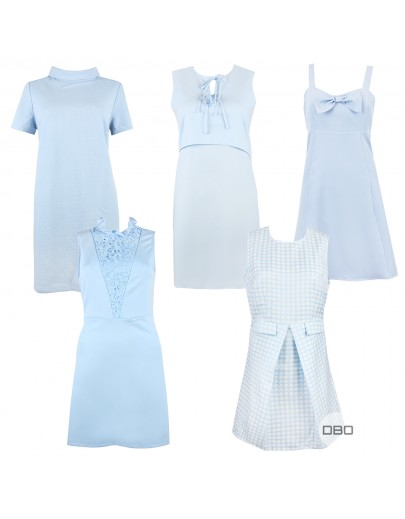 ExFashion Union Blue Dresses