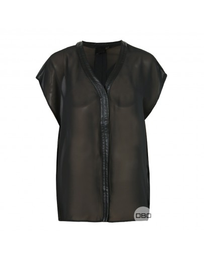 ExAsos Leather Trim Blouses