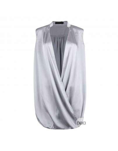 ExMissguided Satin Wrap Top