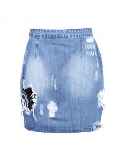 ExMissguided Denim Mini Skirt