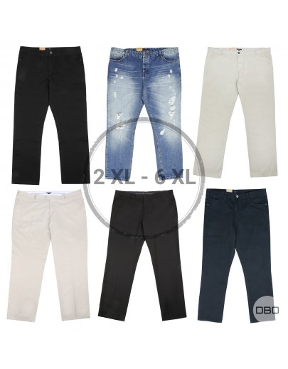 Kiabi Men's Plus Size Trousers