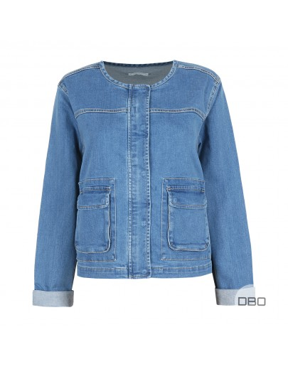 ExPromod Plus Size Denim Jacket