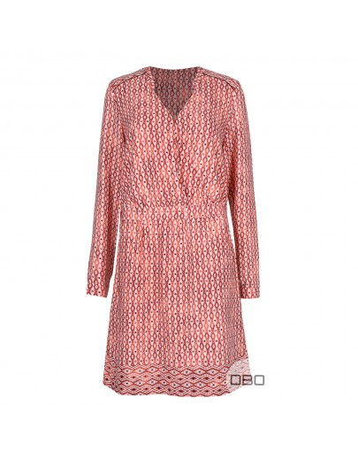 ExPromod Patterned Dress With Long Sleeves