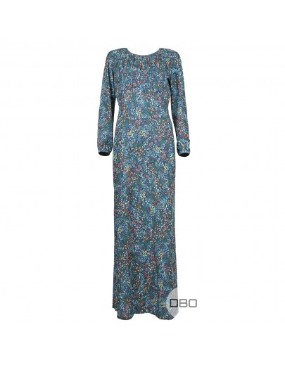 ExPromod long dress with blue print