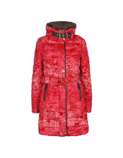 Spanish Red Puffer Coat