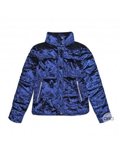 exUrban Bliss Navy Velvet Jacket