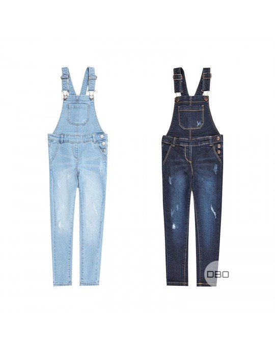 Kids Skinny Jeans Dungarees