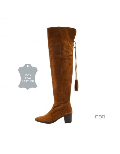 Caramel high boots exOffice